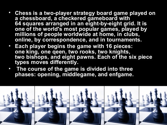 Chess Is My Favourite Sport
