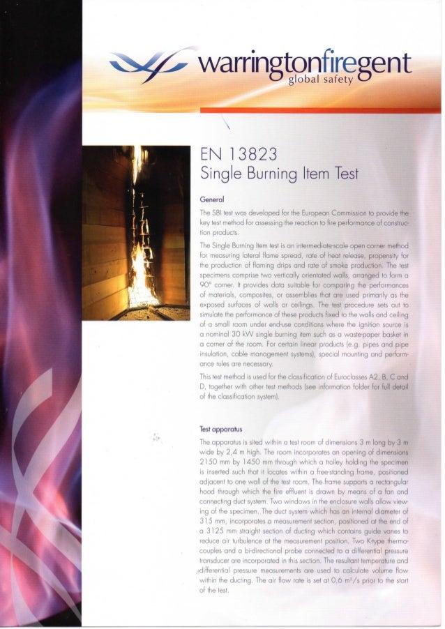 En 13823 test description