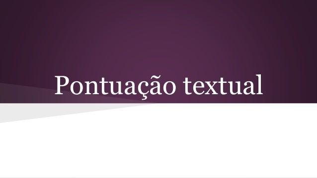 Pontuação textual