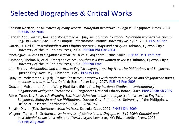 postcolonialism and filipino poetics essays and critiques Postcolonialism and filipino poetics : essays and critiques by j neil c  slip/ pages : essays in philippine gay criticism, 1991-96 by j neil c garcia( book .