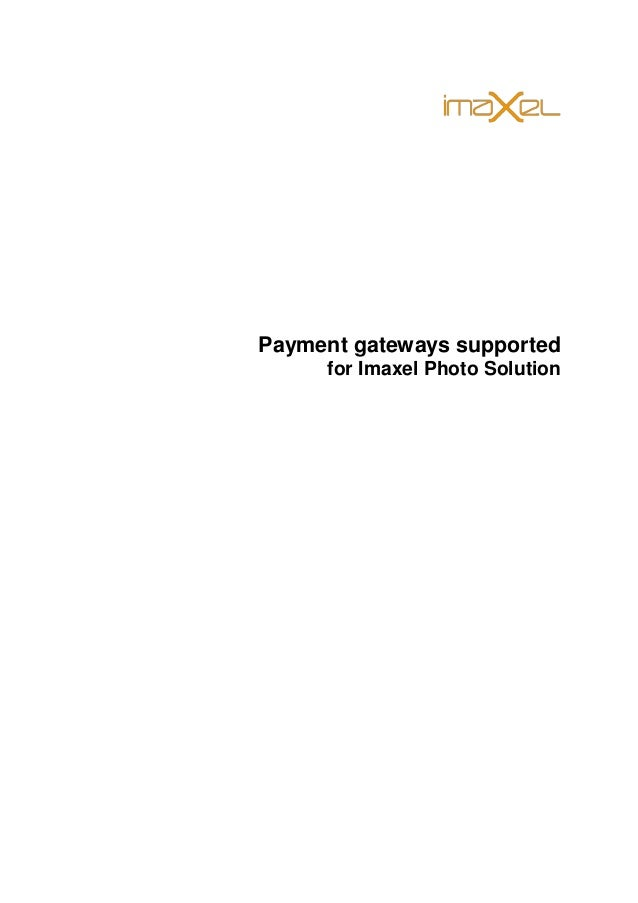 Payment gateways supported for Imaxel Photo Solution