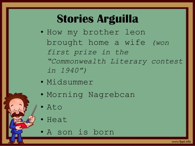 What is the introduction of the story How My Brother Leon Brought Home a Wife?