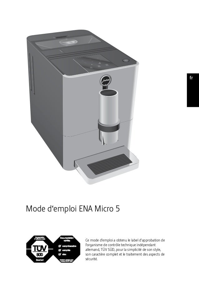 ptesnlitfrruendeMode d'emploi ENA Micro 5Ce mode d'emploi a obtenu le label d'approbation del'organisme de contrôle techni...