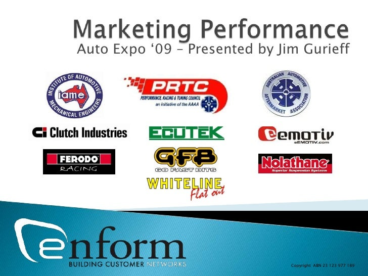 """Auto Expo """"09 – Presented by Jim Gurieff                                    Copyright ABN 23 123 977 189"""