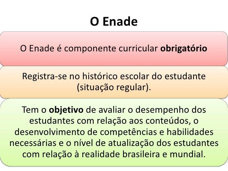 O Enade<br />