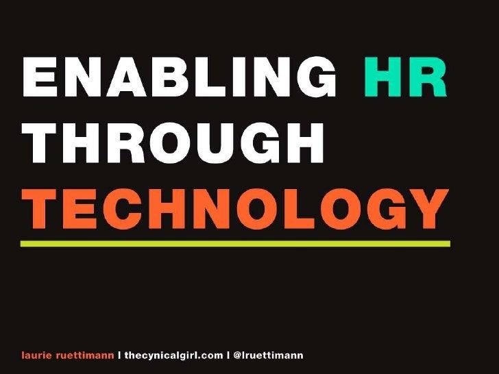 Enabling HR Through Technology