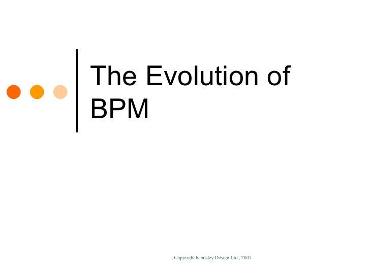 Enabling BPM Through Technology Slide 3