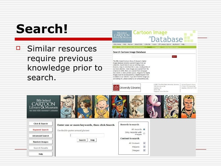 Search!   Similar resources    require previous    knowledge prior to    search.