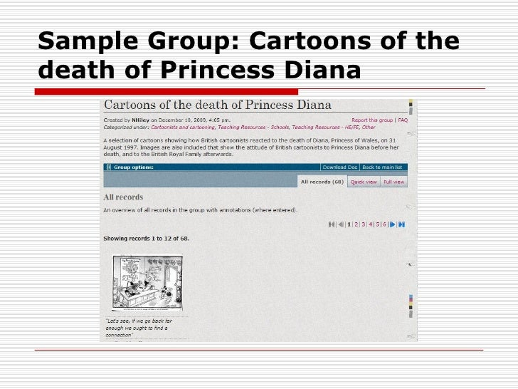 Sample Group: Cartoons of thedeath of Princess Diana