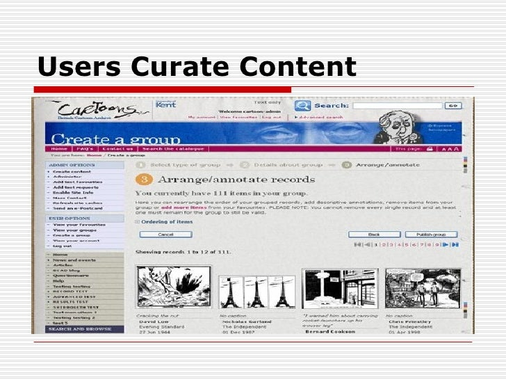 Users Curate Content