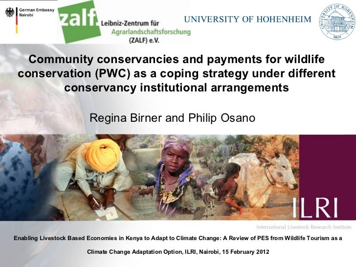 Community conservancies and payments for wildlife conservation (PWC) as a coping strategy under different conservancy inst...