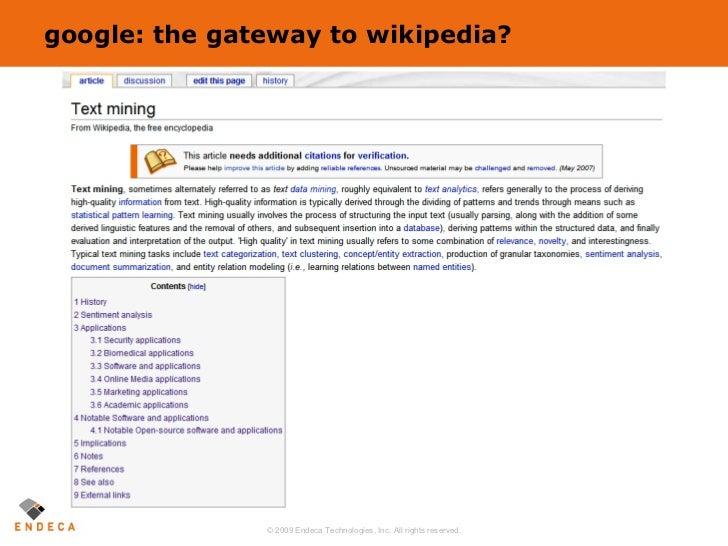 google: the gateway to wikipedia?