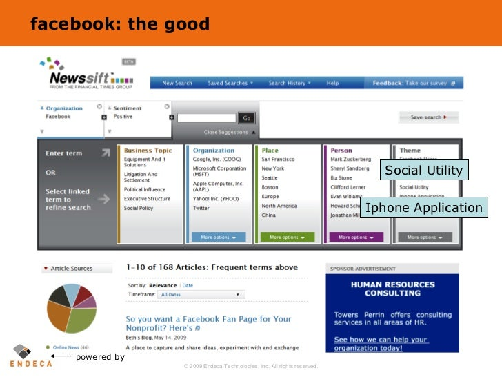 facebook: the good powered by Social Utility Iphone Application