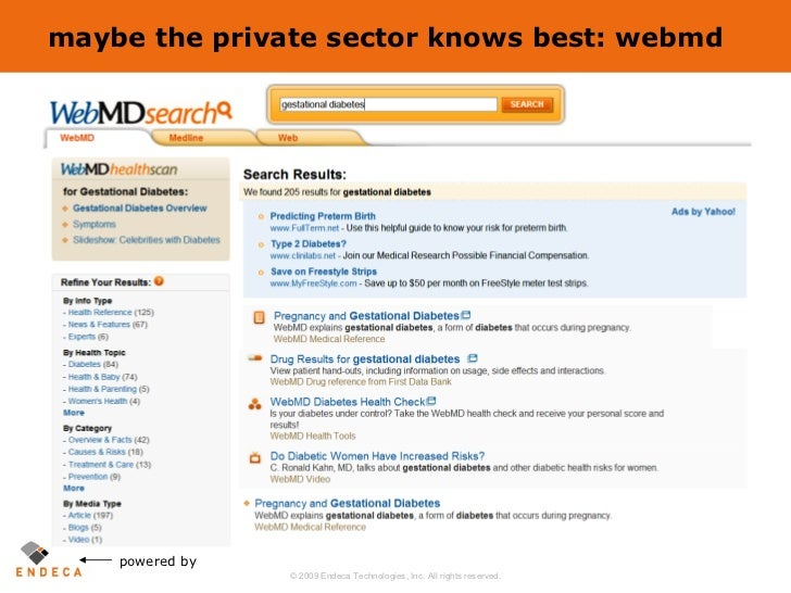 maybe the private sector knows best: webmd powered by