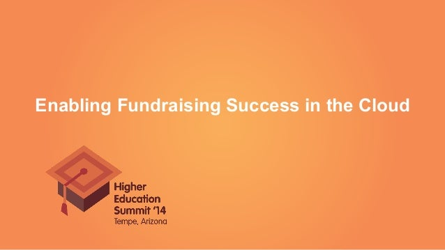 Enabling Fundraising Success in the Cloud