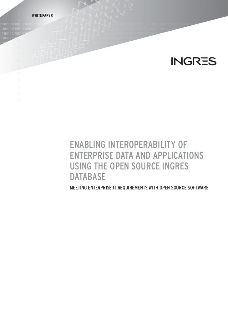 WHITEPAPER             ENABLING INTEROPERABILITY OF             ENTERPRISE DATA AND APPLICATIONS             USING THE OPE...