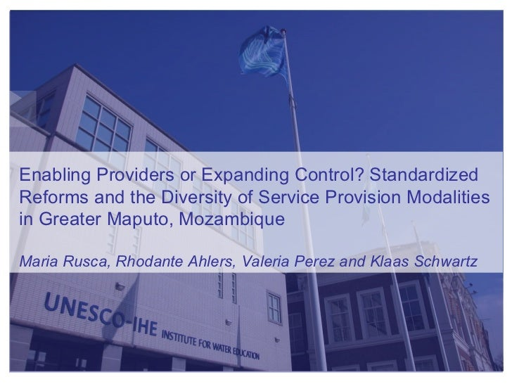 Enabling Providers or Expanding Control? Standardized Reforms and the Diversity of Service Provision Modalities in Greater...