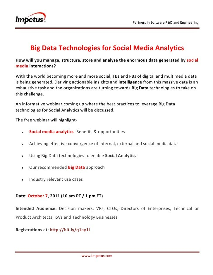 <br />Big Data Technologies for Social Media Analytics<br />How will you manage, structure, store and analyz...