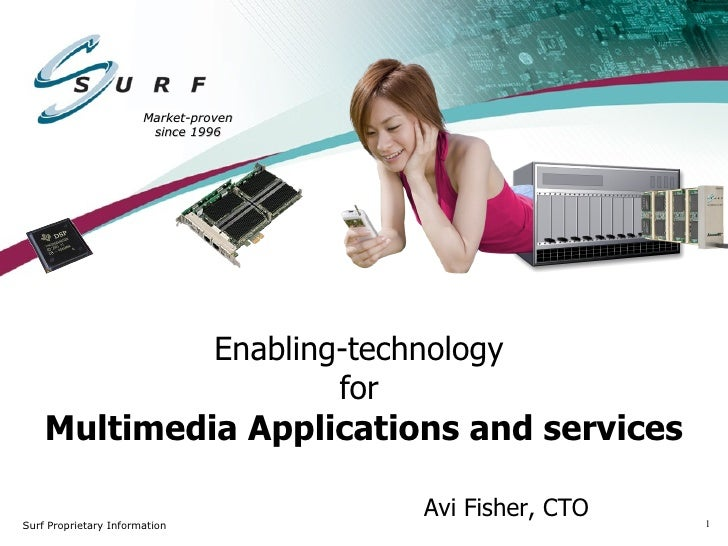 Enabling-technology  for   Multimedia Applications and services Market-proven since 1996 Avi Fisher, CTO