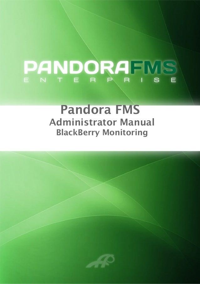 Pandora FMS Administrator Manual BlackBerry Monitoring