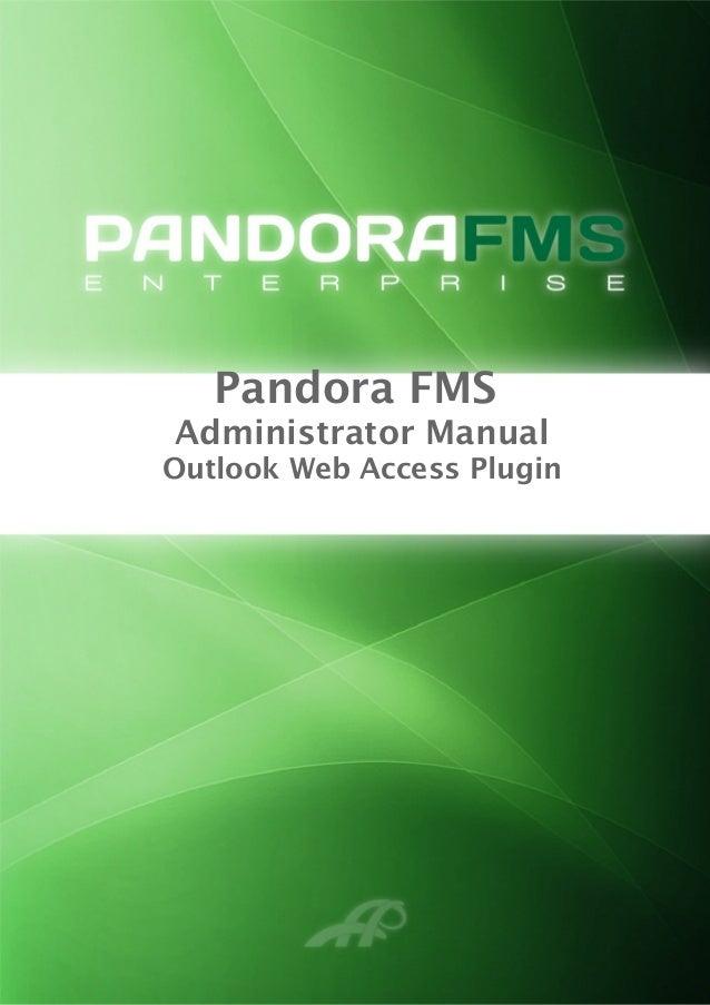 Pandora FMS Administrator Manual Outlook Web Access Plugin