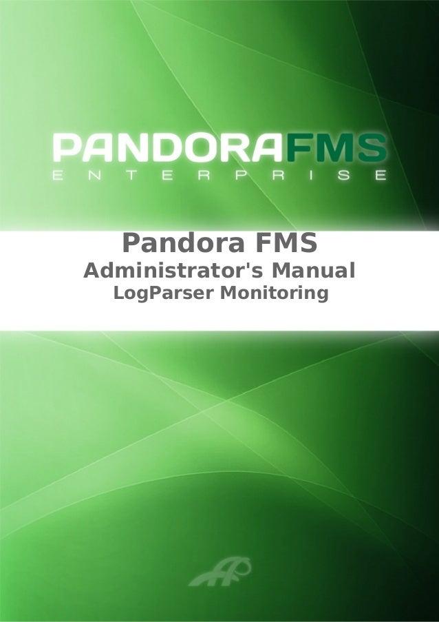 Pandora FMS Administrator's Manual LogParser Monitoring