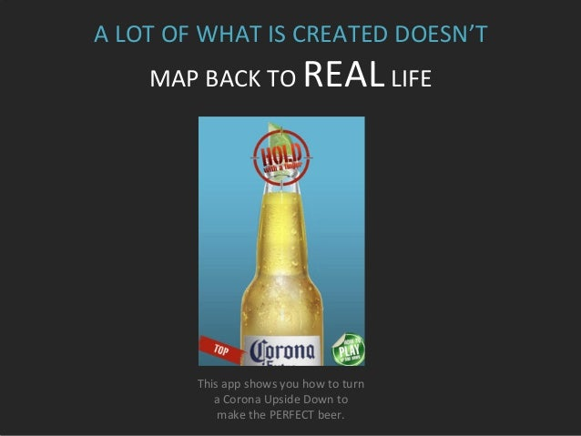 This  app  shows  you  how  to  turn     a  Corona  Upside  Down  to     make  the  PERFEC...