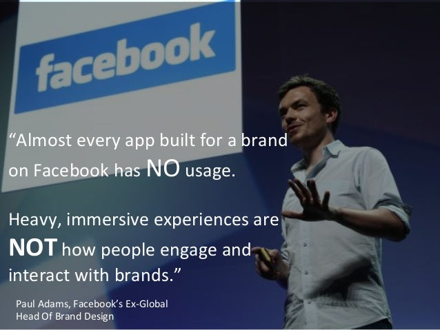 """""""Almost  every  app  built  for  a  brand   on  Facebook  has  NO  usage.        Heavy,  i..."""