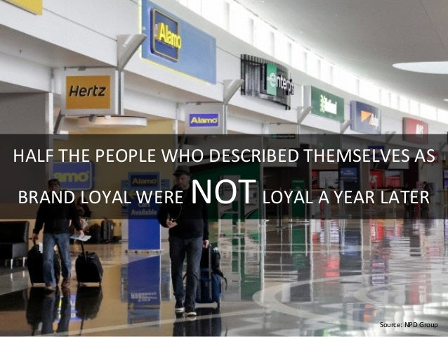 HALF  THE  PEOPLE  WHO  DESCRIBED  THEMSELVES  AS     BRAND  LOYAL  WERE  NOT  LOYAL  A  YEAR...