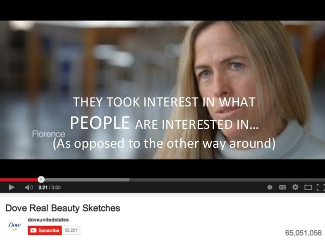 THEY  TOOK  INTEREST  IN  WHAT     PEOPLE  ARE  INTERESTED  IN…   (As  opposed  to  the  other...