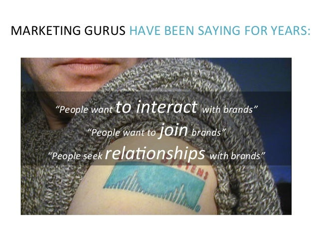 """MARKETING  GURUS  HAVE  BEEN  SAYING  FOR  YEARS:   """"People  want  to  interact  with  brands""""  ..."""