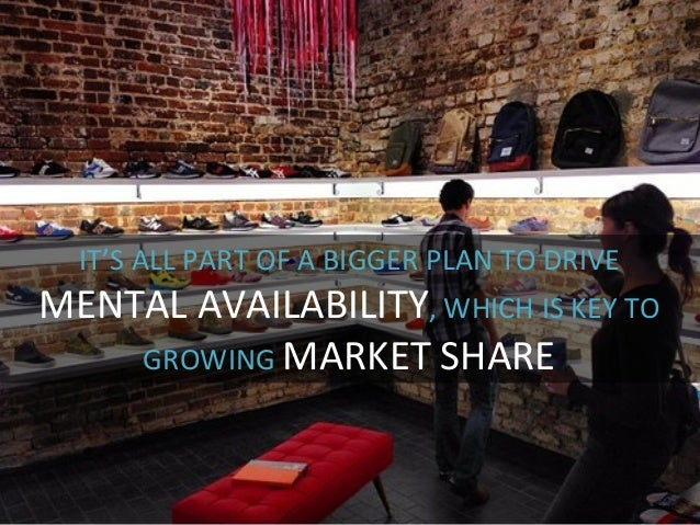 IT'S  ALL  PART  OF  A  BIGGER  PLAN  TO  DRIVE     MENTAL  AVAILABILITY,  WHICH  IS  KEY  T...
