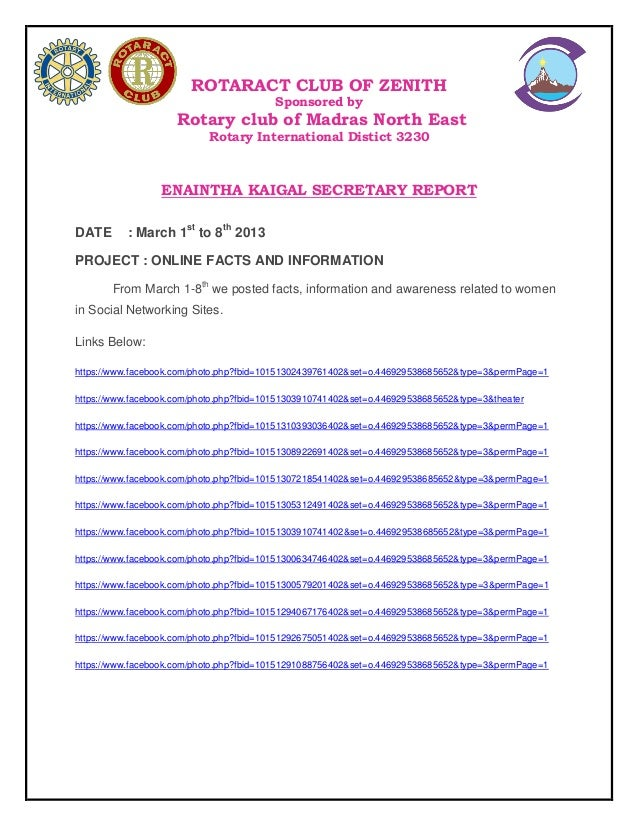 ROTARACT CLUB OF ZENITH Sponsored by  Rotary club of Madras North East Rotary International Distict 3230  ENAINTHA KAIGAL ...