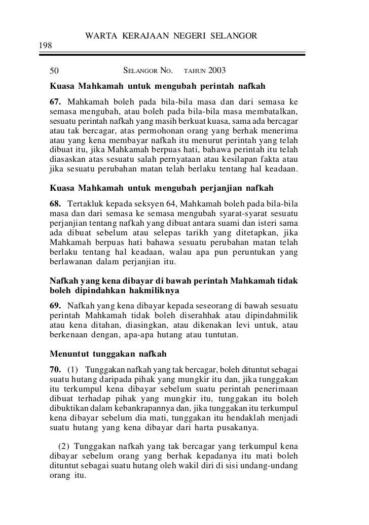 Enakmen Undng2 Keluarga Islam Selangoor 2003