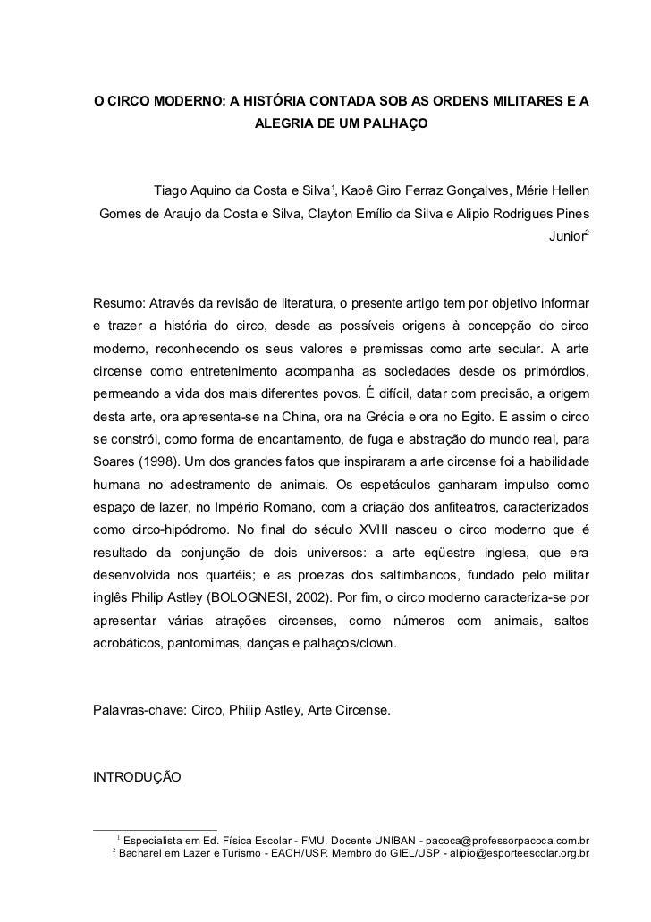 ENAREL 2011 - O Circo Moderno