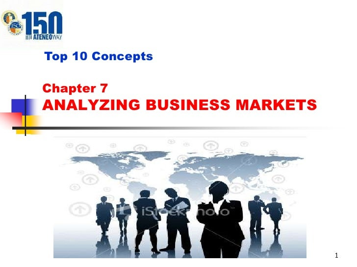 Top 10 ConceptsChapter 7ANALYZING BUSINESS MARKETS                             1