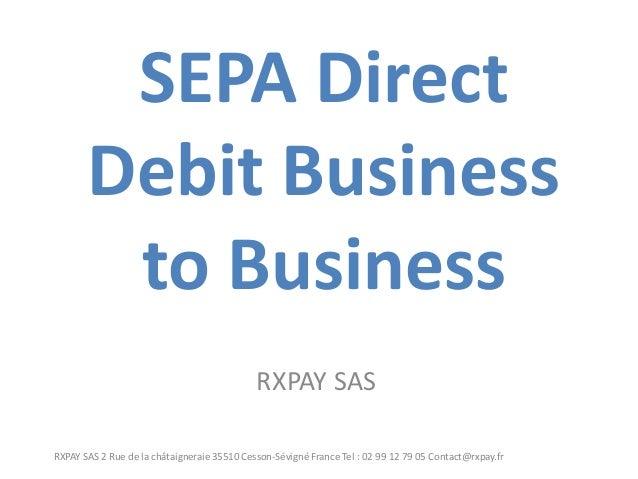 SEPA SDD B2B