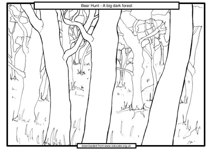 bear hunt coloring pages - photo#26