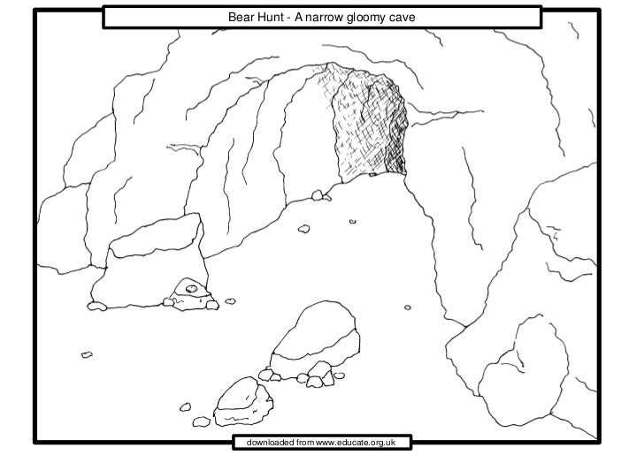 cave man cave coloring pages   We're going on a Bear Hunt.gloomy_cave