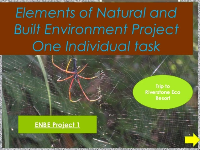 Elements of Natural andBuilt Environment ProjectOne Individual taskENBE Project 1Trip toRiverstone EcoResort