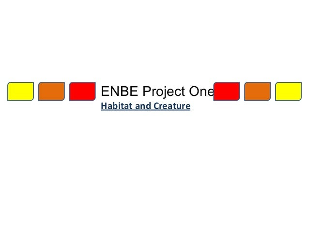 ENBE Project One Habitat and Creature