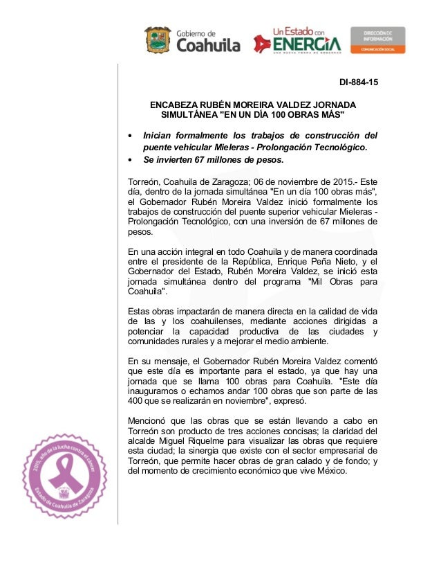 """DI-884-15 ENCABEZA RUBÉN MOREIRA VALDEZ JORNADA SIMULTÁNEA """"EN UN DÍA 100 OBRAS MÁS"""" • Inician formalmente los trabajos de..."""