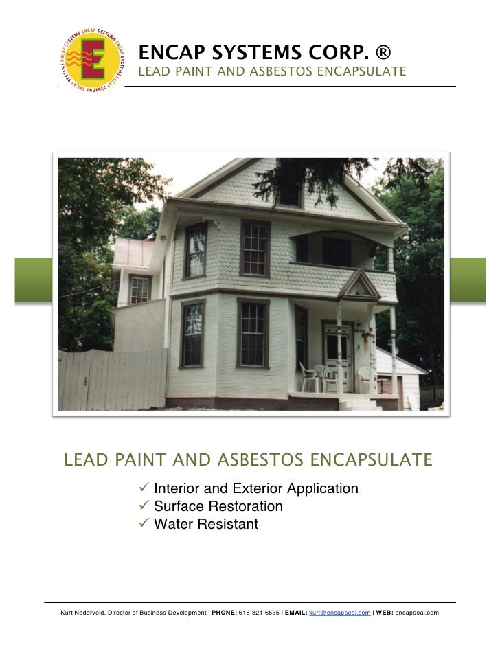 Encap asbestos lead