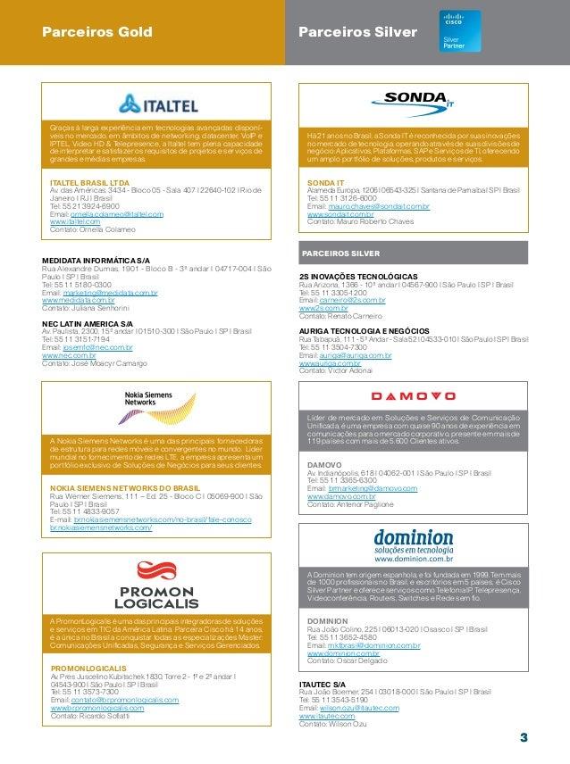 20421a2cbec2a Catálogo Parceiros Cisco Cisco Live 9