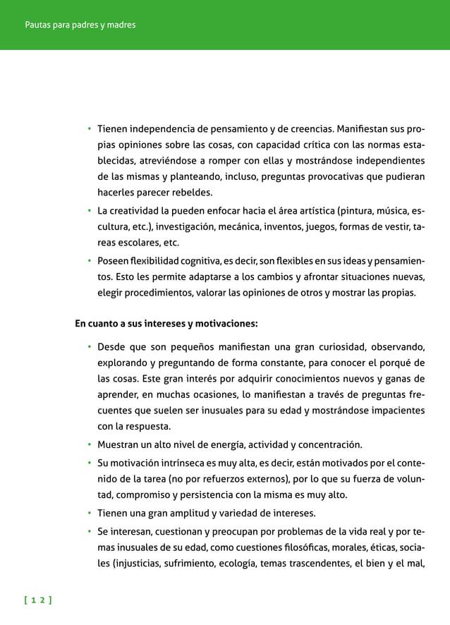 NIÑOS Y NIÑAS CON ALTAS CAPACIDADES INTELECTUALES [ 1 3 ] etc.), mostrando una gran sensibilidad e, incluso, conocimientos...