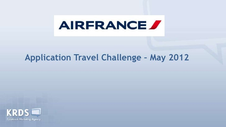 Application Travel Challenge – May 2012