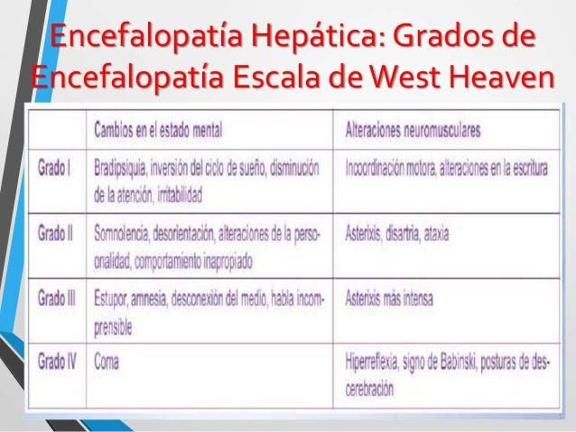 Encefalopatía Hepática: Clasificación