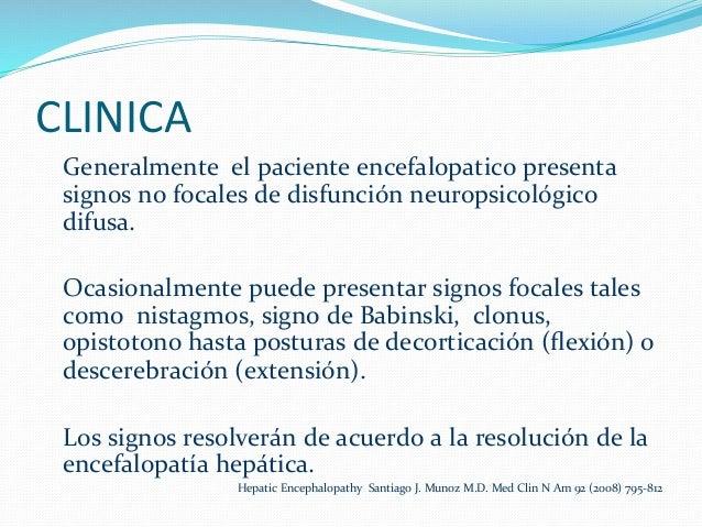 Grados de encefalopatia hepatica