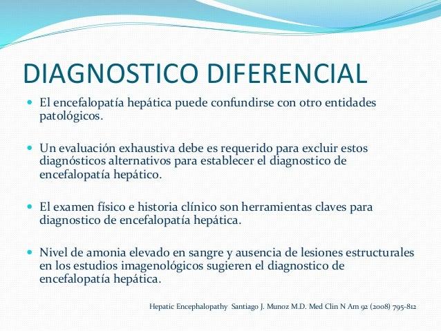 DIAGNOSTICO  DIFERENCIAL   — El  encefalopatía  hepática  puede  confundirse  con  otro  entidades  ...