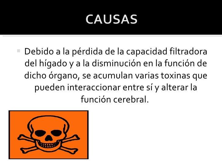<ul><li>Debido a la pérdida de la capacidad filtradora del hígado y a la disminución en la función de dicho órgano, se acu...